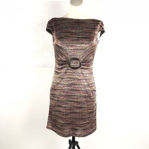 David Meister Sheath Cap Sleeve Dress US 2 EUC